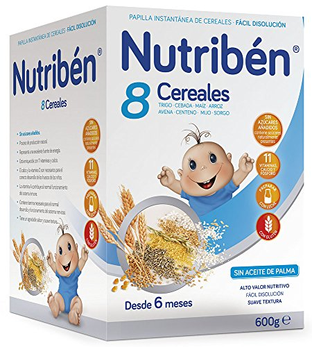 Nutribén Papilla 8 Cereales, Vitaminas y Calcio, Desde 6 meses, 600g