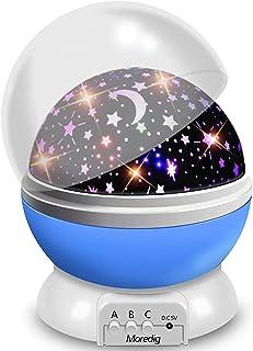 Veilleuse Enfant, Lampe Projecteur Rotation à 360° Romantique,Veilleuse Bébé Étoiles, Lampes de Chevet Lampes d'ambiance(4...