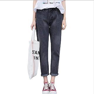 05e71a74badc9 TiGcTRly Woman Loose Plus Size High Waist Casual Denim Harem Pants