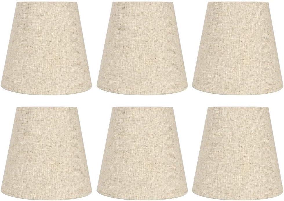 nobrands Lampshade-6Pcs Estilo nórdico E14 Lámpara de araña Pantalla de Tela Accesorio de Cubierta de lámpara de Pared con Estilo nórdico para decoración del hogar