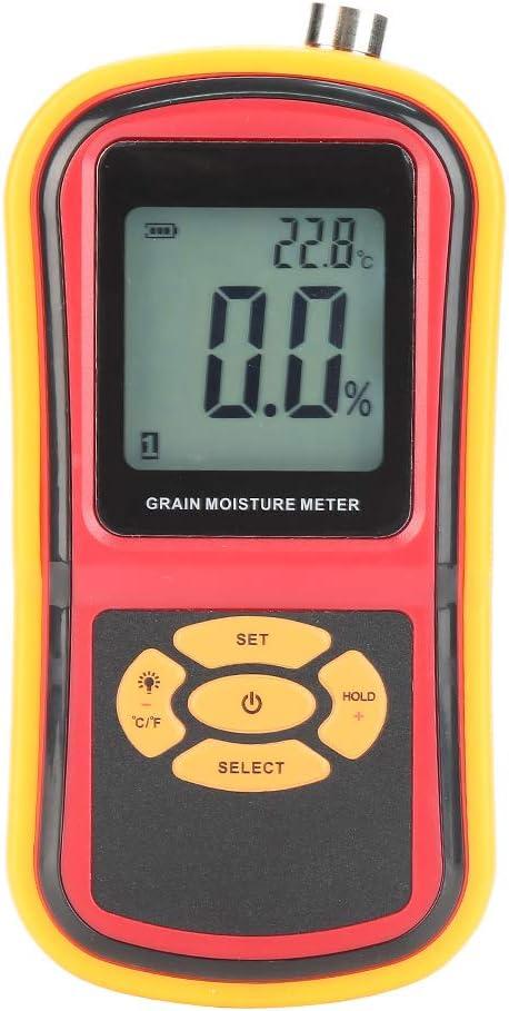 GM640 Portable famous Digital LCD Grain for Tucson Mall Meter Moisture Temperature