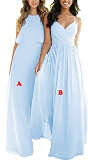 Nicefashion Empire A Line Chiffon Bridesmaid Dresses Open Back Formal Prom Gown