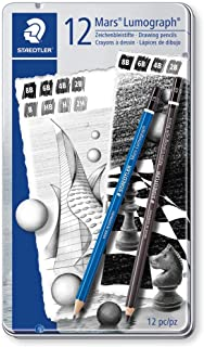 ステッドラー 鉛筆 マルス ルモグラフ & ブラック デッサン アソート 12本セット 100 G12 S1
