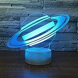 Custom s Creative 3D Kids Gift pequeña Night Light touch inducción 3D Kids Gift LED Lámpara de mesa color acrílico visual 3D Kids Gift back