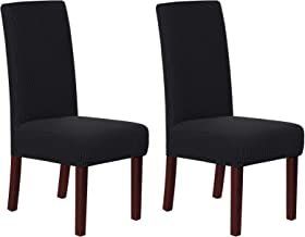 Stretch Removable Washable Chair Covers Solid High Dining Room Chair Protector Home Decor Set of 2 Spandex Dining Chair Pr...