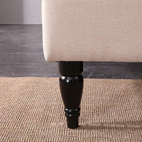 Classic Brands Winterhaven Upholstered Platform Bed | Headboard and Metal Frame with Wood Slat Support, Queen, Linen