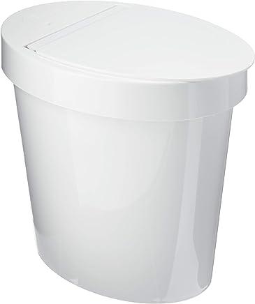 Lixeira Oval Retro Coza Branco