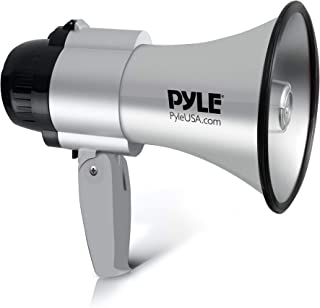 Portable Megaphone Speaker Siren Bullhorn - Compact and Battery Operated with 30 Watt Power, Microphone, 2 Modes, PA Sound...