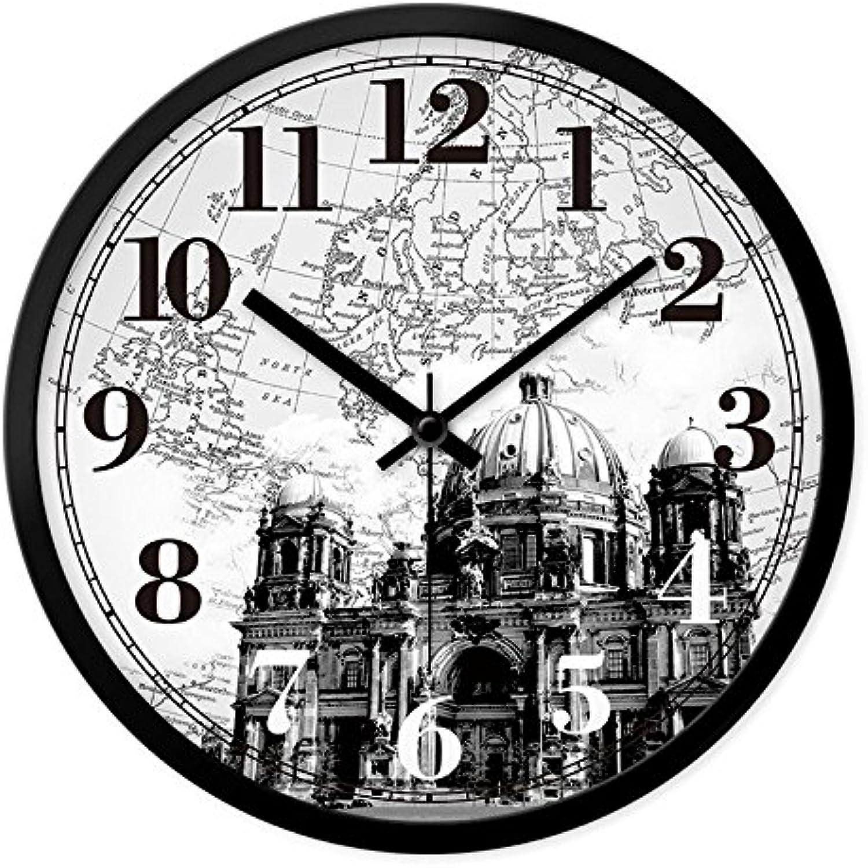 los nuevos estilos calientes Reloj de parojo relojes europea salón creativo creativo creativo y elegante oficina retro moderno del reloj de cuarzo de silencio en la Tabla 12   muchas concesiones