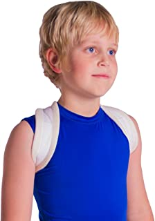 Pediatric Clavicle Fracture Figure-8 Brace for Broken Collarbone in Kids and Teens (Small)