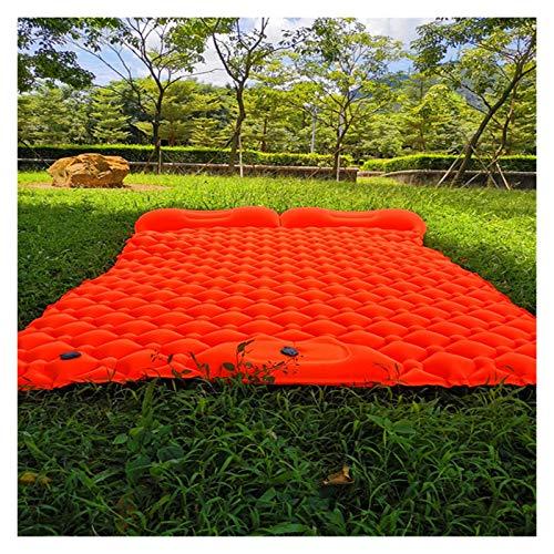 XIAOFANG Nueva Estera de Camping al Aire Libre Ultraligero portátil, Bomba incorporada para colchón Inflable de inflación rápida 1-2 Hombre Almohadilla para Dormir (Color : 2 Man Orange)