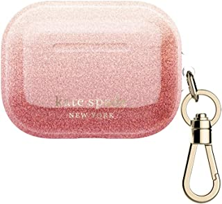 kate spade new york AirPods Pro Case - Ombre Glitter Sunset/Pink Multi/Gold Foil Logo