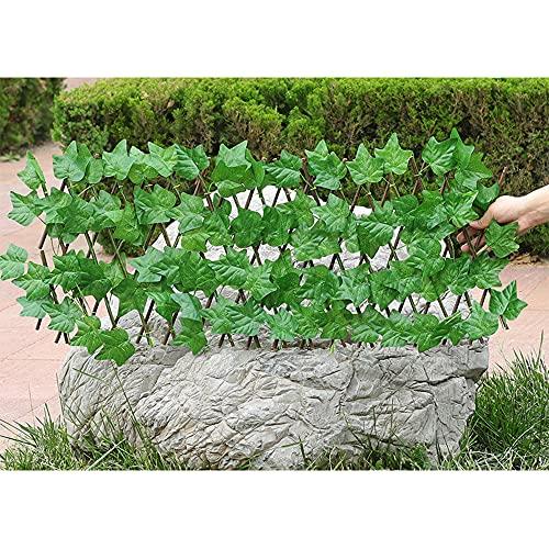 Seto Artificial Gardentrellis, Flor De Seda Extensible Retráctil/Decoración De Valla De Hojas, Pantalla De Sombra De Privacidad para Balcones, Jardín, Patio,D,M