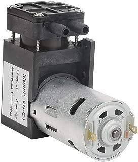 Tangxi DC 24V Mini Vacuum Pump, 85KPa Flow 40L/min Mini Small Oilless Vacuum Pump