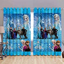 HOMECRUST Digital Print Elegant Snow White Fabric Window Curtains, 4 x 5 Feet, Multicolour -Set of 2 Pieces