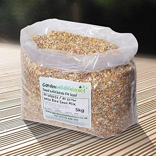 Garden Wildlife Direct No Mess / No Waste / No Grow Wild Bird Seed Mix (5Kg)
