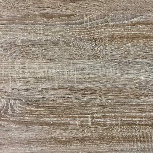 Rohr-Trading.SURFACES Klebefolie für Möbel Küche Tür & Deko I Selbstklebende Folie inkl. Filzrakel zur Verarbeitung I 3D Fototapete Sonoma Eiche Holzoptik [200 x 45cm]
