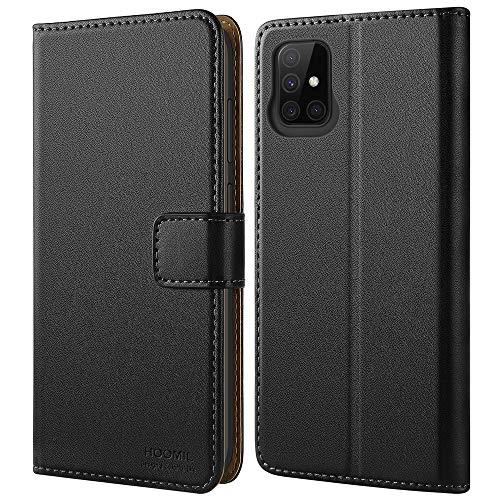 HOOMIL für Samsung A51 Hülle, Galaxy A51 Hülle, Premium Leder Tasche Flip Case Schutzhülle Handyhülle für Samsung Galaxy A51 Hülle - Schwarz