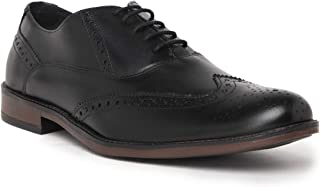 NOBLE CURVE Black Leather Oxford Brogues Shoes