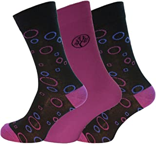 Mens Supersoft Comfy Bamboo Rich Socks In Plain And Bubble Design 3 Pair Pack