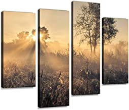 Beautiful Mystical Landscape Canvas Wall Art Hanging Paintings Modern Artwork Abstract Picture Prints Home Decoration Gift Unique Designed Framed 4 Panel