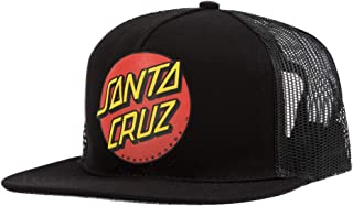 Santa Cruz Skateboard Hat Classic Dot Mesh Trucker Gold//Black