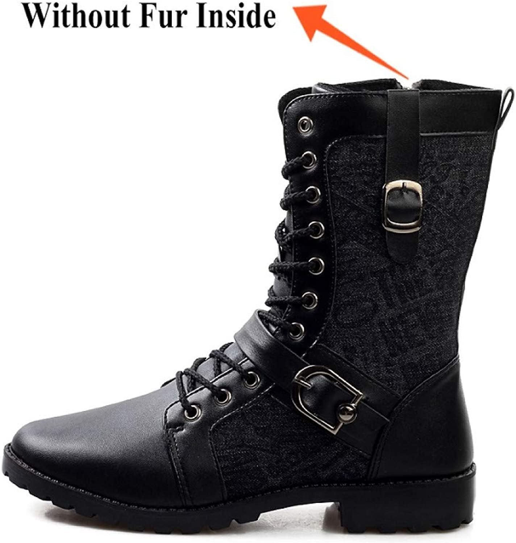 FHCGMX PU PU PU Leather Winter WaMr Mane Martin Boots for Mans Casual skor Vuxna Mode Tröttskor  grossist billig