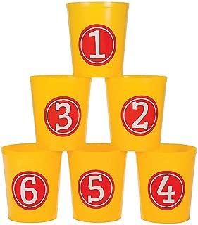 Fun Express - Grand Toss Game Buckets - Toys - Games - Carnival & Bingo - 6 Pieces