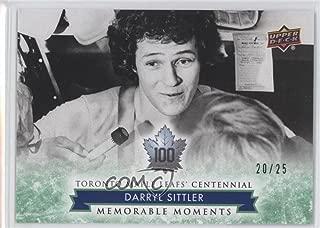 Darryl Sittler #20/25 (Hockey Card) 2017 Upper Deck Toronto Maple Leafs Centennial - [Base] - Green #182