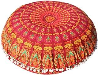 VJGOAL Mandala India Redonda Bohemio Funda de Almohada decoración del hogar Funda de cojín Suave(40_x_40_cm,Multicolor3)