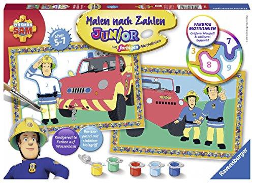 Ravensburger Malen nach Zahlen 27772 - Feuerwehrmann Sam - Für Kinder von 5-7 Jahren