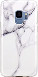 JAHOLAN Galaxy S9 Case White Marble Design Slim Flexible Clear Bumper TPU Soft Rubber Silicone Cover Phone Case for Samsung Galaxy S9
