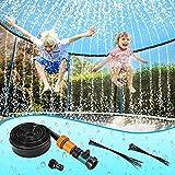 Winthai 12m Trampoline Sprinkler,Outdoor Trampolin Sommer-Kühlspielzeug für Kids, Kinder gartenspielgeräte Kinder draussen,Kann für Garden bewässerung, Haustierdusche verwendet Werden