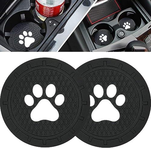 BukNikis Cup Holder Coasters-Car Interior Accessories 2.75 inch Silicone Anti Slip Dog Paw Car Coaster -Universal (Pa...
