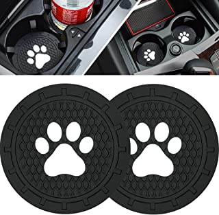 BukNikis Cup Holder Coasters-Car Interior Accessories 2.75 inch Silicone Anti Slip Dog Paw Car Coaster for Jeep Audi BMW Ford Mustang Cadillac Dodge Toyota-Universal (Pack of 2)