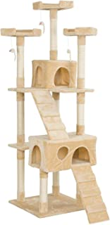 """Mumoo Bear 67"""" Multi-Level Cat Tree Tower, Kitten Condo House with Scratching Posts, Kitty Play Activity Center, Beige"""