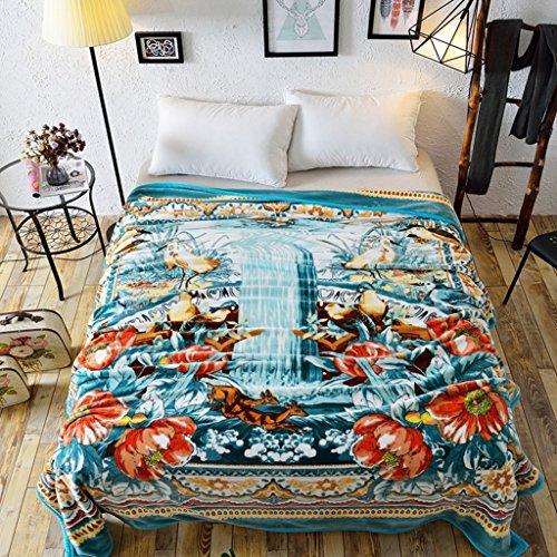 Couvertures de lit de Chambre à Coucher Chaude Bleue de Chaude de lit de de lit de Loisirs de Quatre Saisons de Taille Chaude: 200 * 230cm