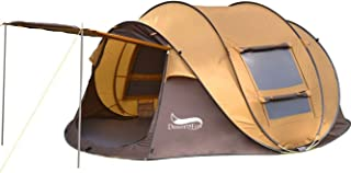 DESERT & FOX 3-4 Person Pop-up Tent, Automatic Instant Setup Family Tents Sun Shelter for Beach, Camping, Hiking