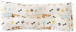 Decolores | Saco térmico de semillas. Saco de calor y frío con olor a hierbas naturales. Cojín estampado de perros. Tamaño: 15 x 40 cms (Lavanda)