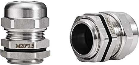 Hardwarelager Waterdichte kabelklierconnector IP68 304 RVS INOX PG7 voor 3-6.5mm PG9 PG11 PG13.5 PG16 PG19 / 21 Laag gelui...