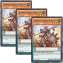 Yu-Gi-Oh! y3 Pieces setz English Version DOCS-EN000 Samurai Cavalry of Reptier (Rare) 1st Edition