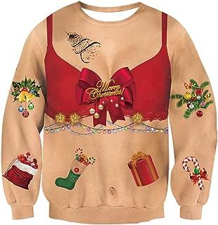 Goodstoworld Unisex Women/Men Ugly Christmas Sweater Shirts 3D Funny Pullover Sweatshirts S-XXL