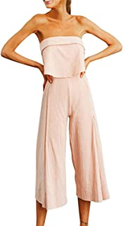 0def2ab352be The small cat 2019 Women Summer Bohemian Lady Strappy Solid Sleeveless Long  Trouser Playsuits Jumpsuit
