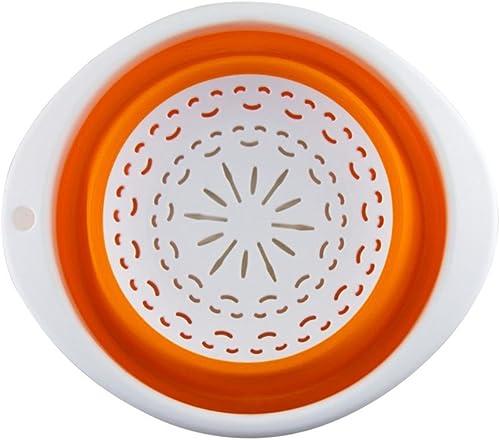 1 tropfsieb Falten, der Gemüse Abtropfgestell Squish SpÃlen Pasta Sieb S Orange