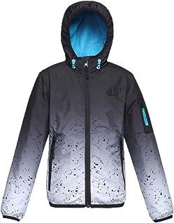 Rokka&Rolla Boys' Lightweight Water Resistant Zip-Up Hooded Windbreaker Jacket