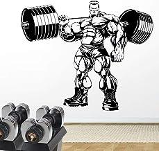 NSRJDSYT Bodybuilding Wall Decal Gym Fitness Etiqueta de la Pared Weights Sport Wall Decor Art Mural 57x65cm