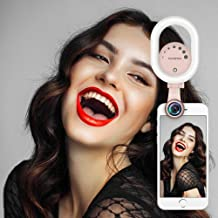 Selfie Light, Evershop Clip-on Rechargeable Selfie Light for iPhone, Samsung, Huawei and All Smartphones/Tablets