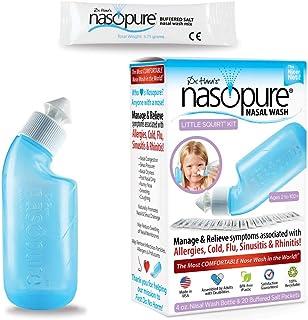 "Dr. Hana's Nasopure ""The Nicer Neti Pot\"" for Kids   Little Squirt Kit   4 Ounce Bottle with 20 Buffered Salt Packets   ..."