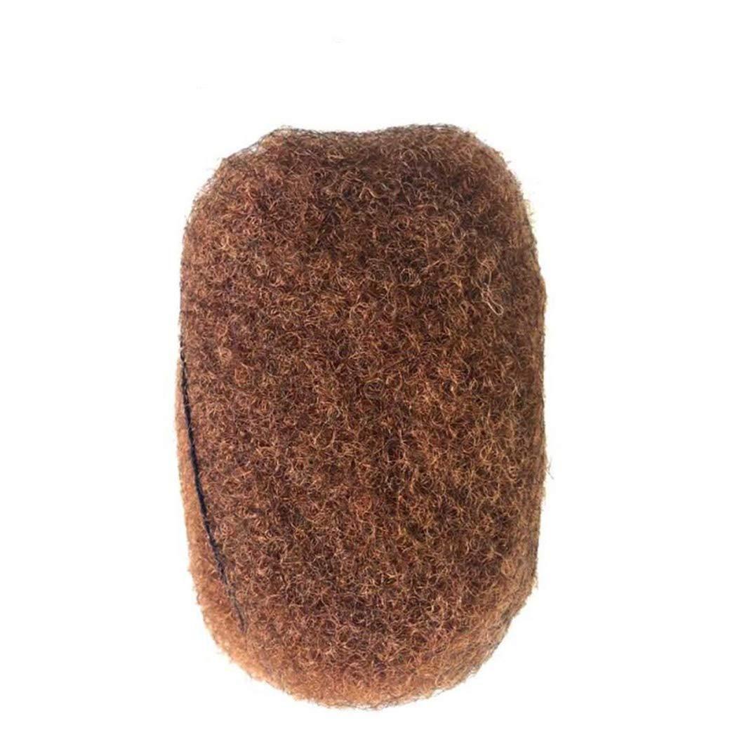 Yotchoi Afro Kinky Bulk Human Hair,4 Bundles/Package Medium Aubu