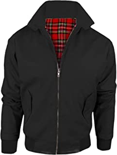 Style spot Vintage Adults Harrington Retro Classic Scooter 1970'S Tartan Lining Bomber MOD Skin Fashion Trendy Jacket TOP ...